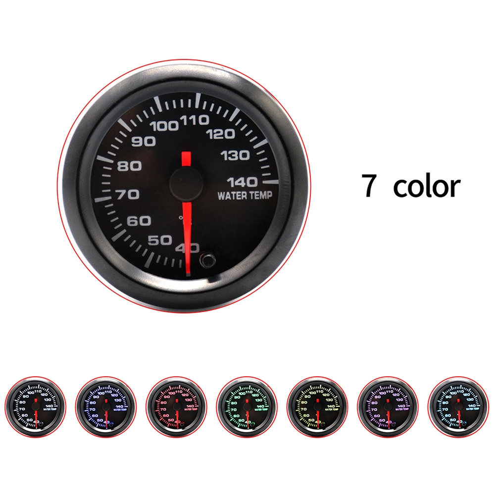 2 inch Car Modified Instrument Panel 12V LCD Display Water Temperature Meter