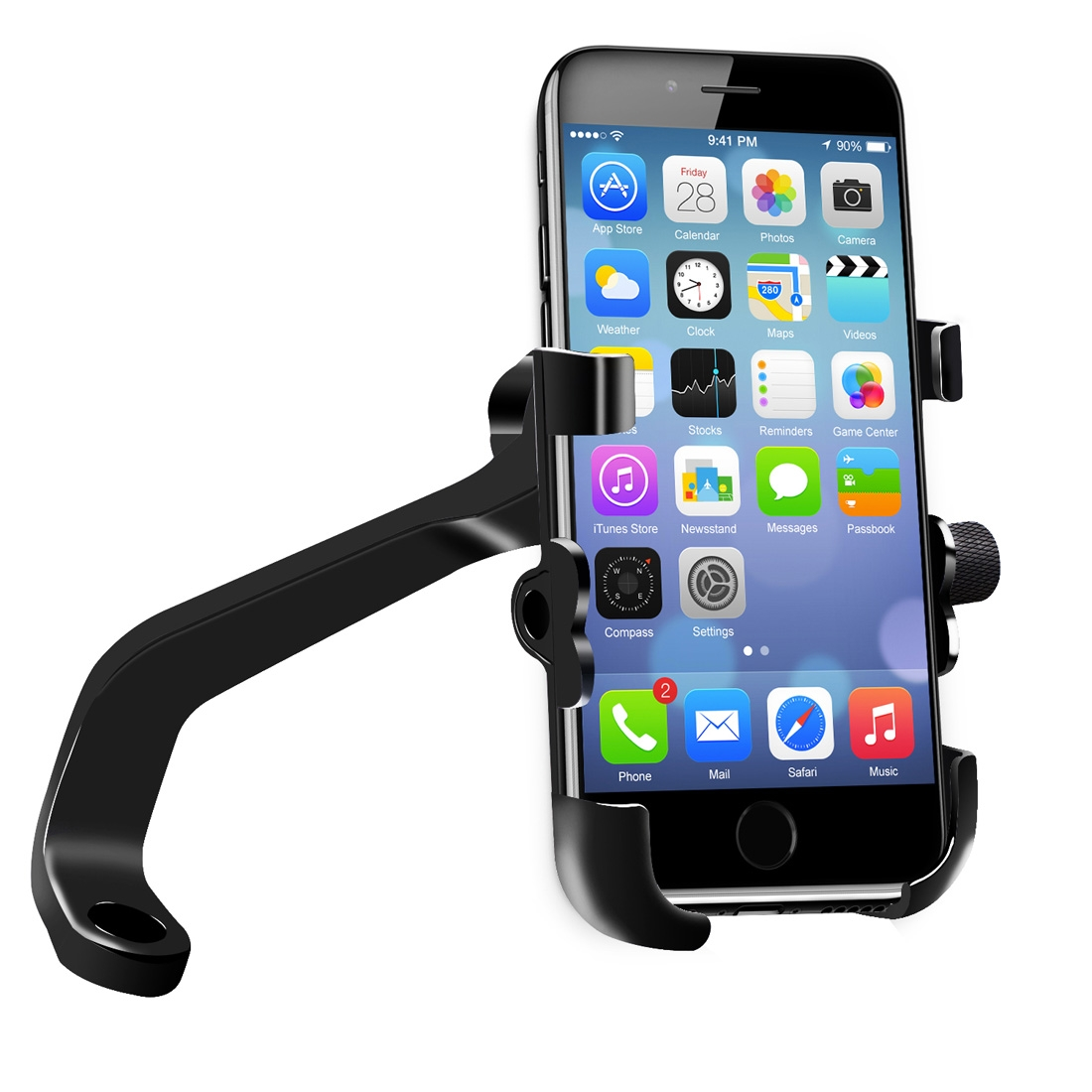 Waterproof Motorcycle Phone Mount with QC 3.0 USB Charger Socket Motorcycle Handlebar Charger Compatible with Samsung iPhone Phones