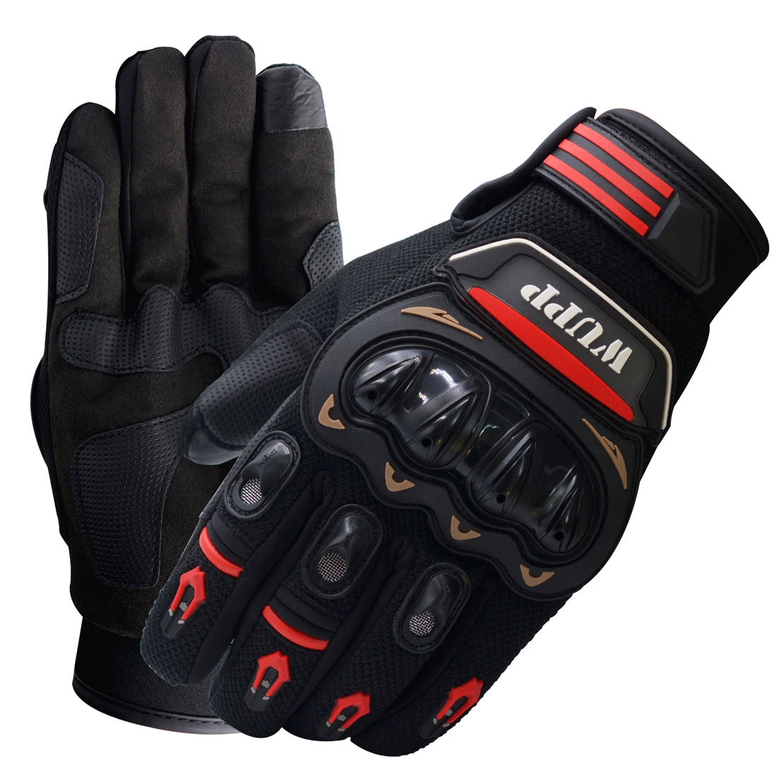 Motorcycle Gloves Touch Screen Waterproof Breathable Wearable Anti-skid Resistance Summer Winter Full-Finger Protective Gloves, Size: XL