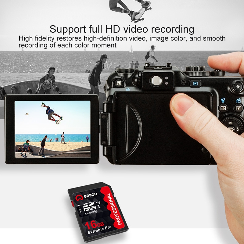 eekoo 16GB High Speed Class 10 SD Memory Card for All Digital Devices with SD Card Slot