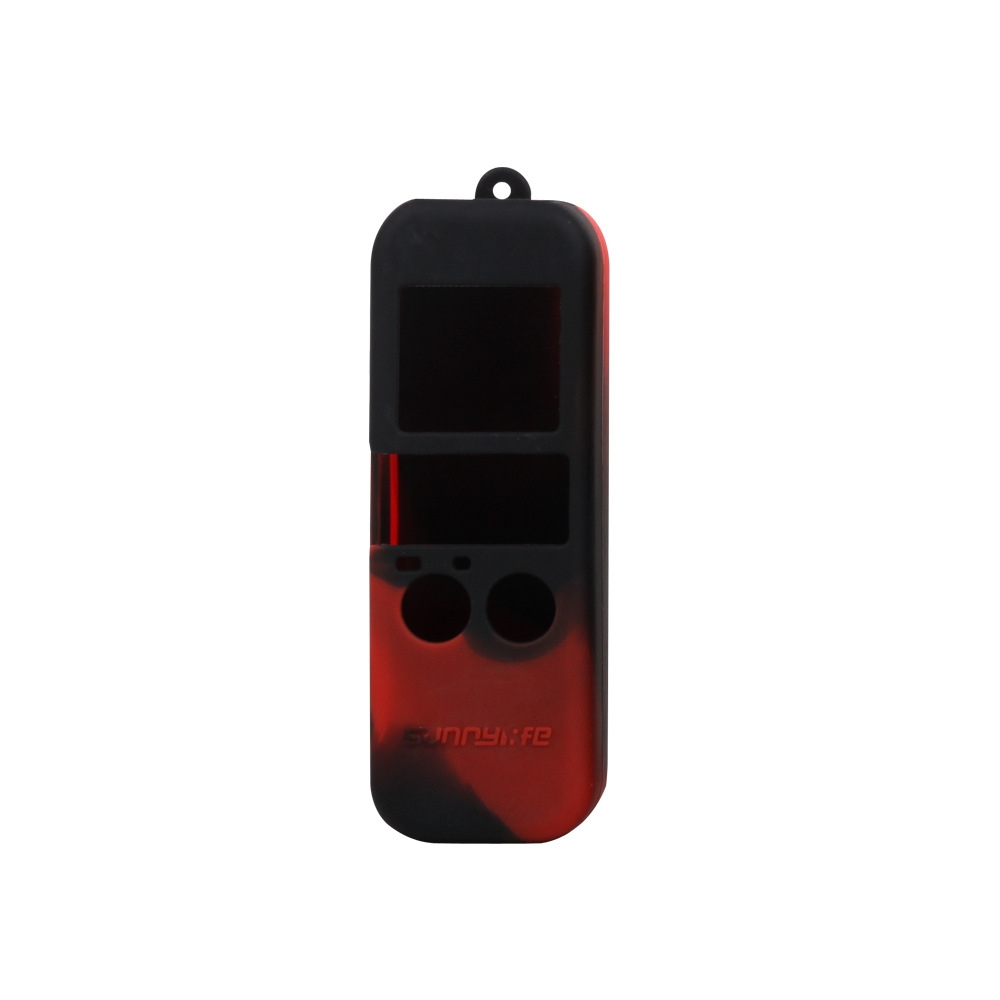 Black Color : Black Red MEETBM ZIMO,Non-Slip Dust-Proof Cover Silicone Sleeve for DJI New Pocket