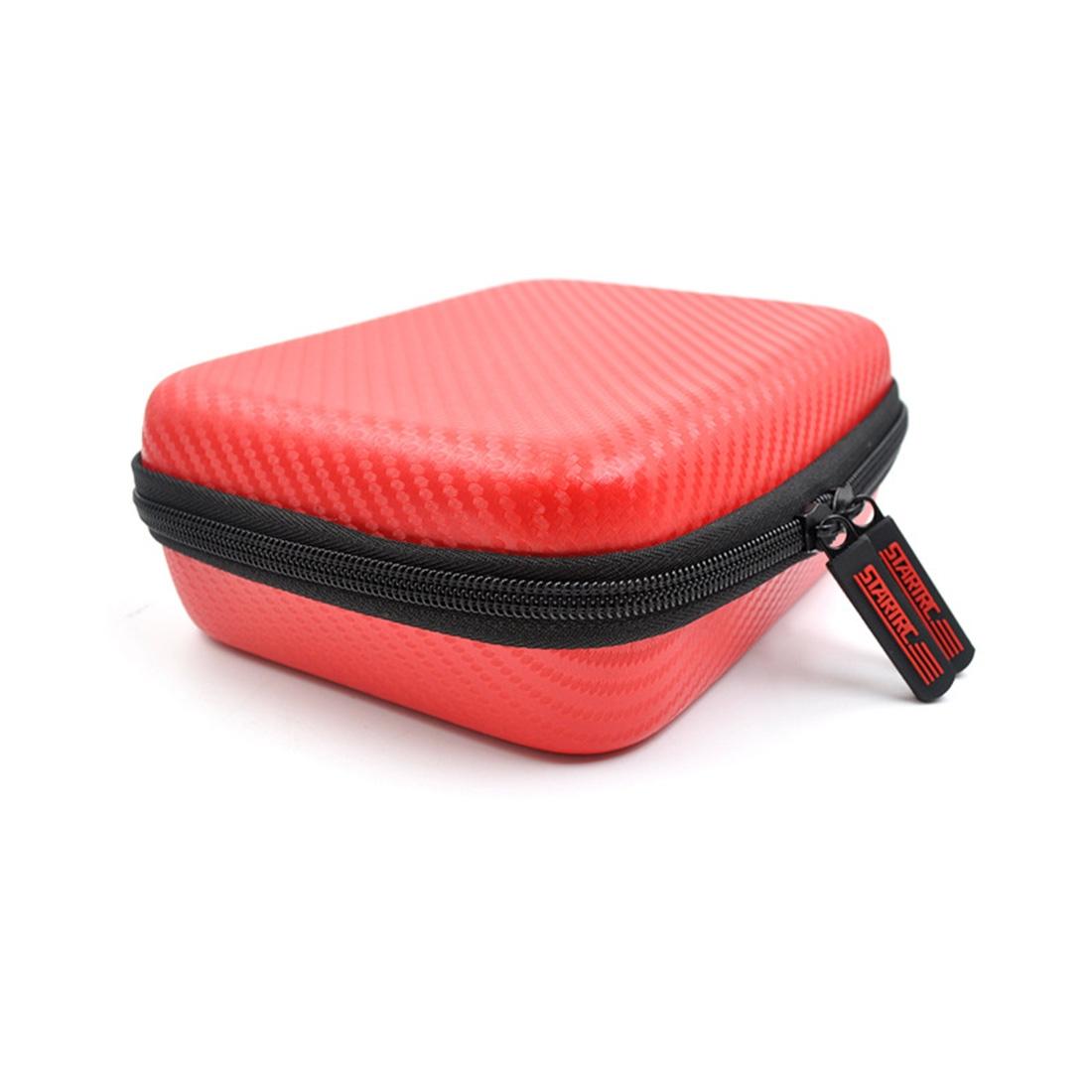 STARTRC Carbon Texture Waterproof PU Storage Bag for DJI OSMO Pocket Gimble Camera (Red)