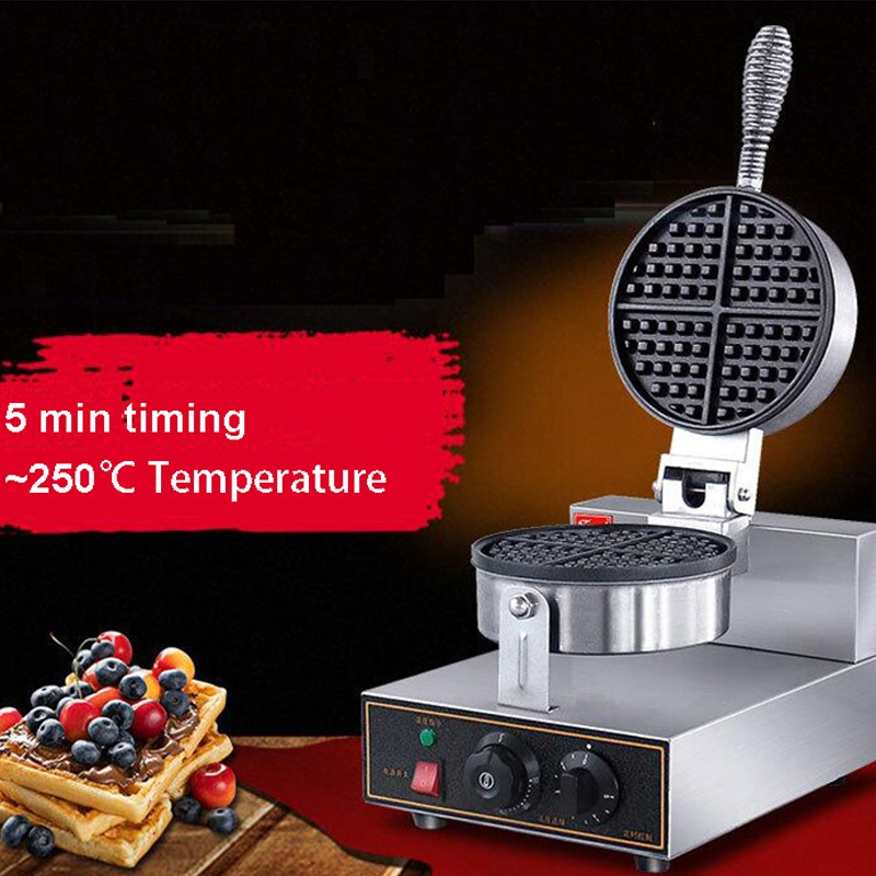 UWB-1 Round Waffle Electric Machine Nonstick Muffin Waffle Baker