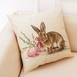 Easter Bunny Eggs Pattern Sofa Cushion Car Pillow, Size: 45x45cm