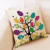 Easter Eggs Pattern Sofa Cushion Car Pillow, Size: 45x45cm