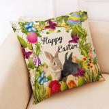 Happy Easter Pattern Sofa Cushion Car Pillow, Size: 45x45cm