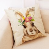 Easter Bunny Pattern Sofa Cushion Car Pillow, Size: 45x45cm