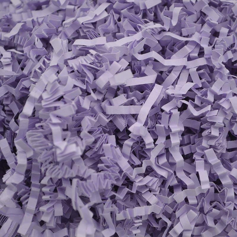 60g RF1101-20 Raffiti Filler Paper Grass Shredded Crumpled Wedding Decorations Party Gift Box Filling (Light Purple)