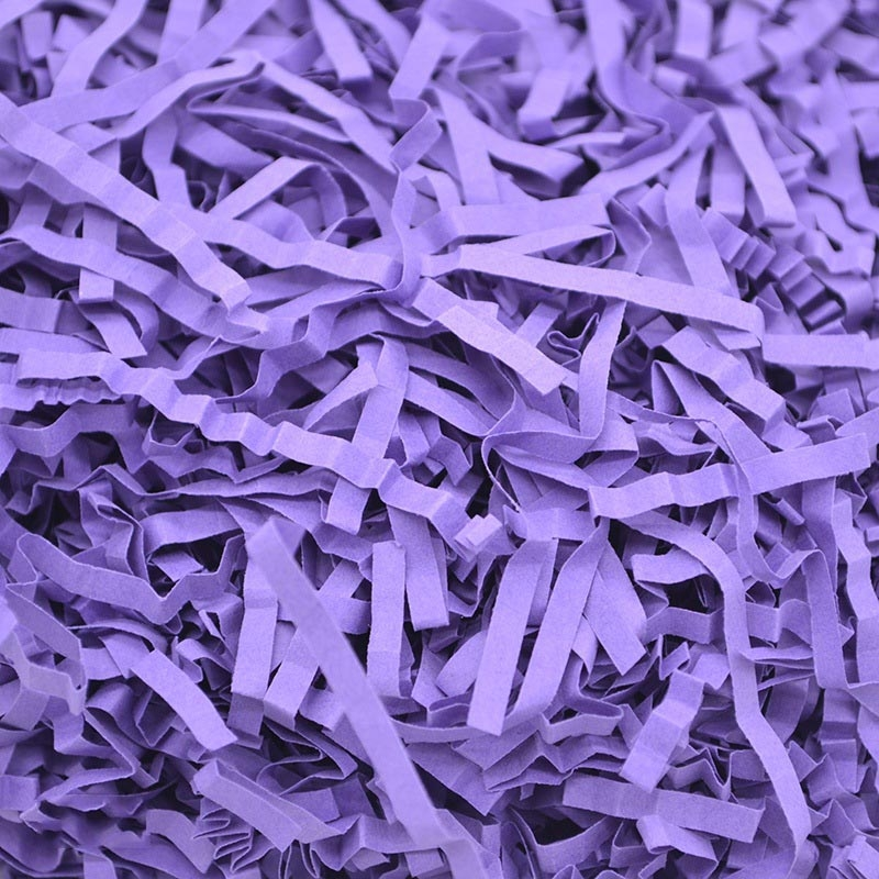60g RF1101-20 Raffiti Filler Paper Grass Shredded Crumpled Wedding Decorations Party Gift Box Filling (Purple)