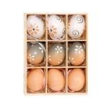 9 PCS Easter Log Gradient Eggs Holiday Decorative Hang Ornament Children Toys