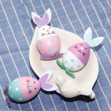 3 PCS Easter Bunny Eggs Ornament Holiday Decoration Children Toys, Random Color