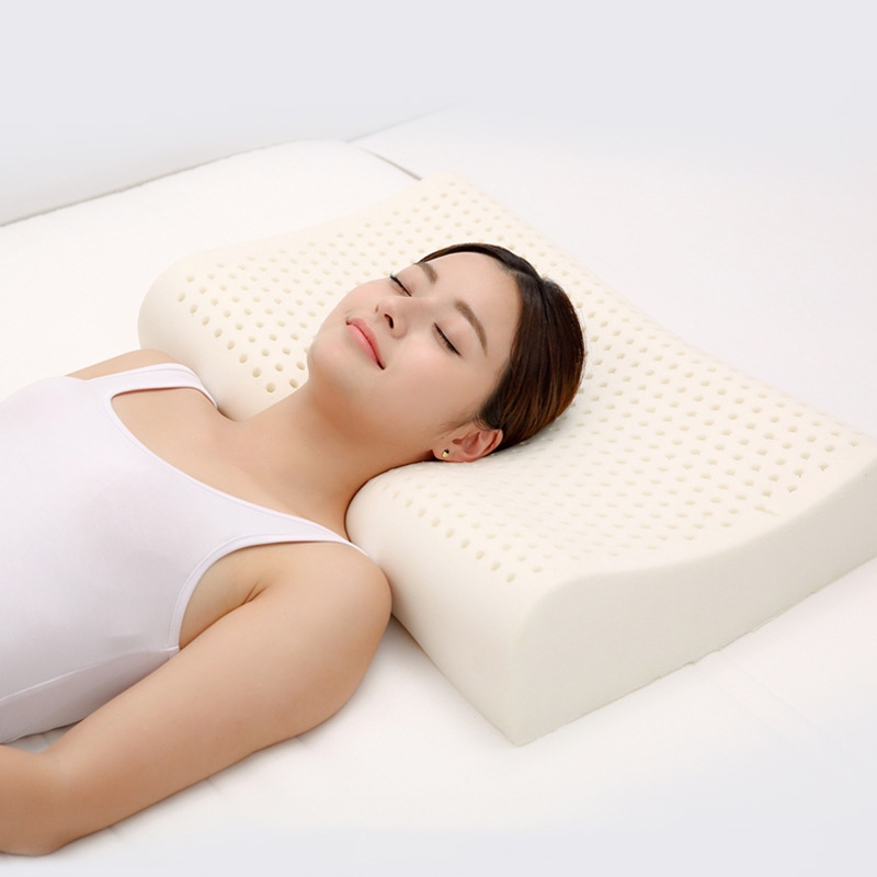 Original Xiaomi 8H Z2 Natural Latex Pillow Soft Breathable Spine Protection Massage Care Pillow with Cotton Pillowcase