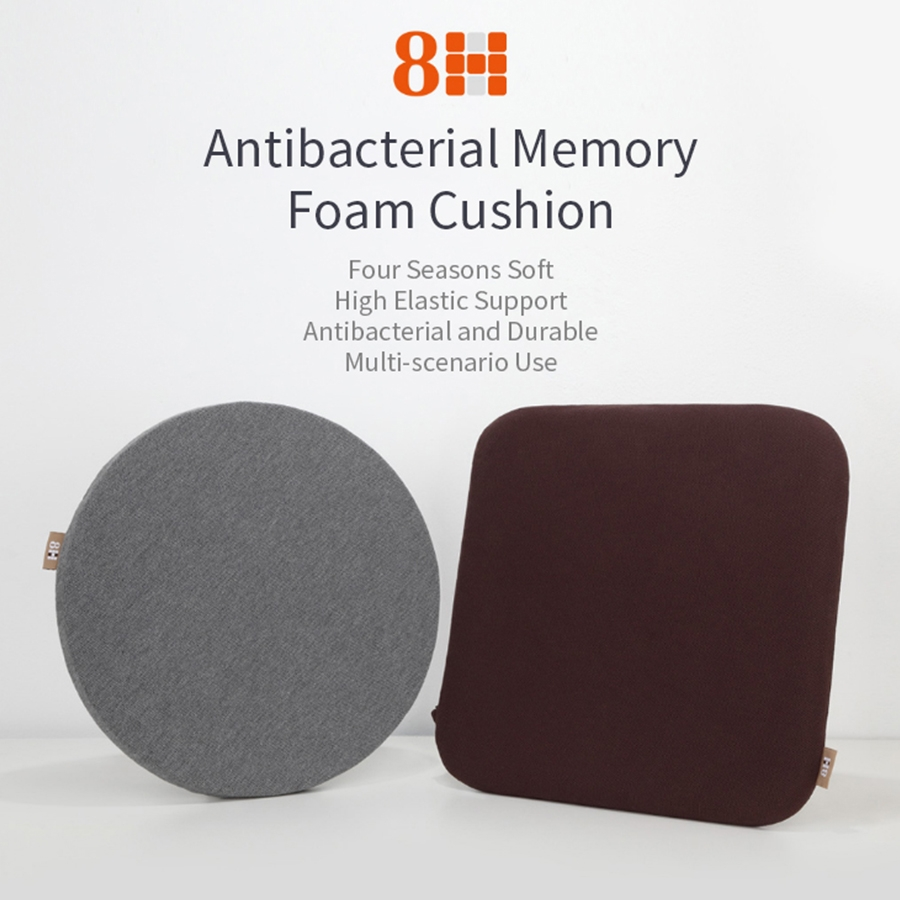 Original Xiaomi Square Shape Multi-function 8H Antibacterial Memory Cushion (Grey)