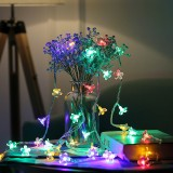 5m 50 LEDs Cherry Blossom Holiday Decorative Light, Battery Powered (Colorful Light)