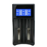 YS-3 Universal 18650 26650 Smart LCD Dual Battery Charger with Micro USB Output for 18490 / 18350 / 17670 / 17500 / 16340 RCR123 / 14500 / 10440 / A / AA / AAA