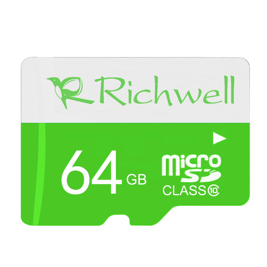 Richwell 64GB High Speed Class 10 Micro SD (TF) Memory Card