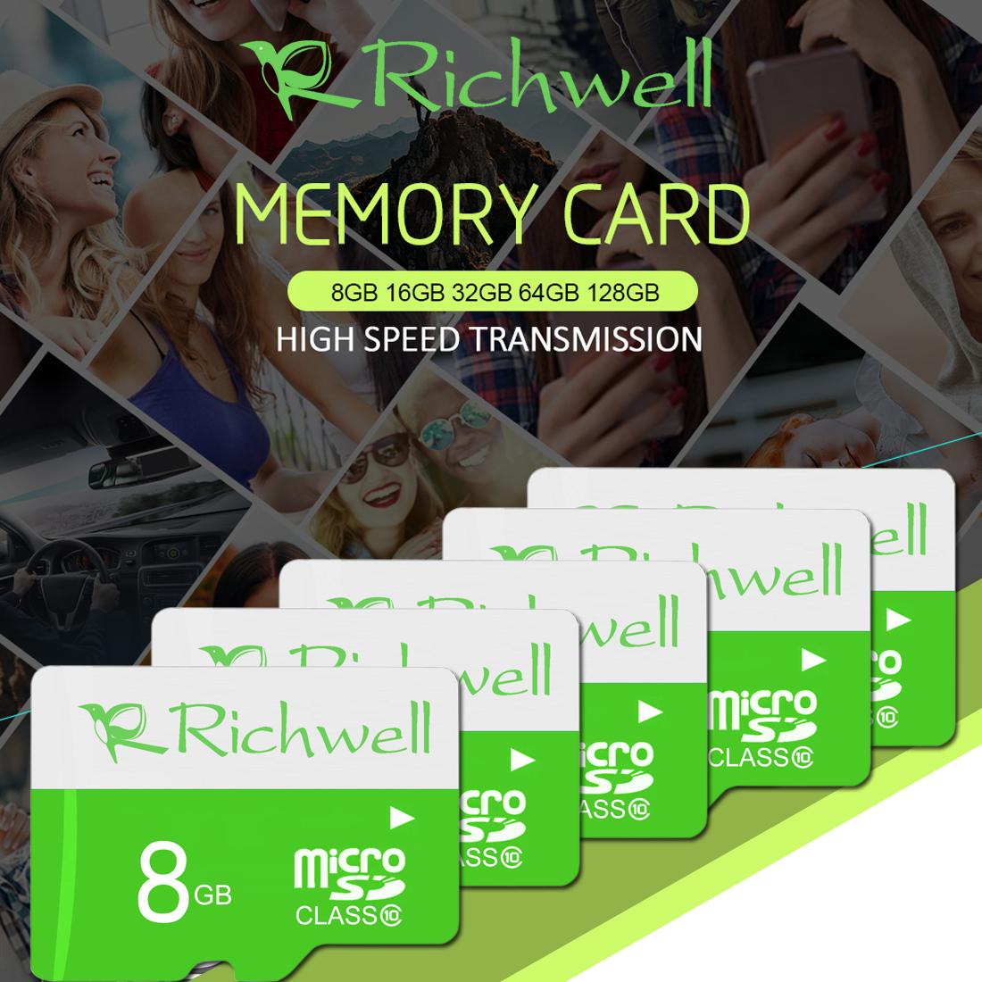 Richwell 8GB High Speed Class 10 Micro SD (TF) Memory Card