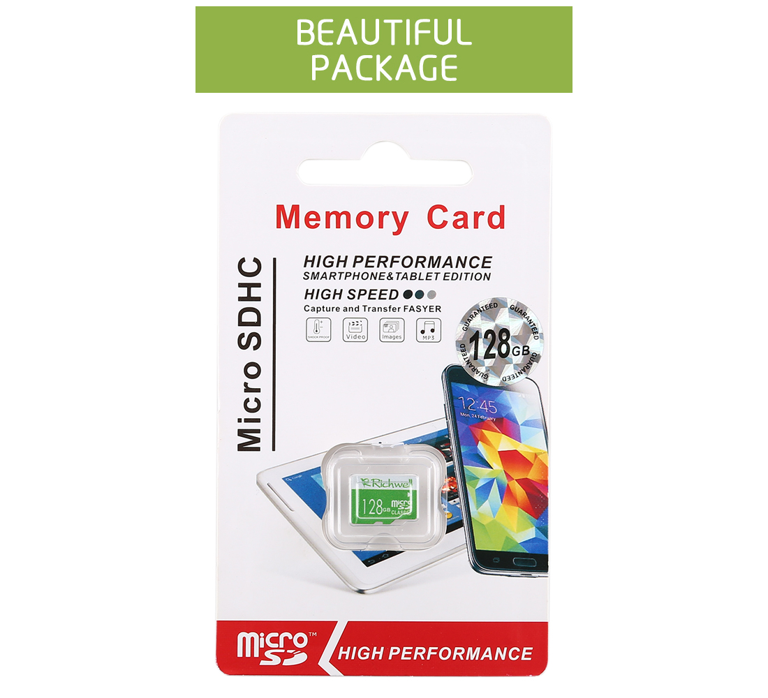 Richwell 128GB High Speed Class 10 Micro SD (TF) Memory Card