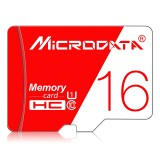 MICRODATA 16GB High Speed U1 Red and White TF (Micro SD) Memory Card