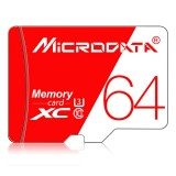MICRODATA 64GB High Speed U3 Red and White TF (Micro SD) Memory Card