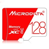 MICRODATA 128GB High Speed U3 Red and White TF (Micro SD) Memory Card