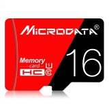 MICRODATA 16GB High Speed U1 Red and Black TF (Micro SD) Memory Card