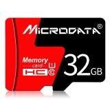 MICRODATA 32GB U1 Red and Black TF (Micro SD) Memory Card