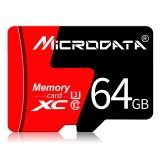 MICRODATA 64GB U3 Red and Black TF (Micro SD) Memory Card