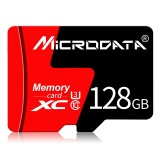 MICRODATA 128GB U3 Red and Black TF (Micro SD) Memory Card