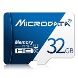 MICRODATA 32GB U1 Blue and White TF (Micro SD) Memory Card