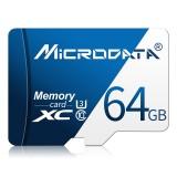 MICRODATA 64GB U3 Blue and White TF (Micro SD) Memory Card