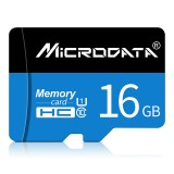 MICRODATA 16GB U1 Blue and Black TF (Micro SD) Memory Card