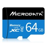 MICRODATA 64GB U3 Blue and Black TF (Micro SD) Memory Card
