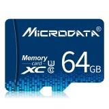 MICRODATA 64GB U3 Blue TF (Micro SD) Memory Card