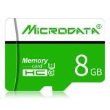 MICRODATA 8GB U1 Green and White TF (Micro SD) Memory Card