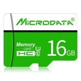 MICRODATA 16GB U1 Green and White TF (Micro SD) Memory Card
