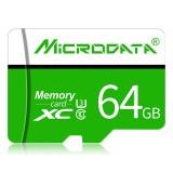 MICRODATA 64GB U3 Green and White TF (Micro SD) Memory Card