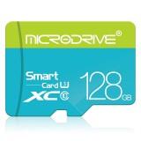 MICRODRIVE 128GB U3 Blue and Green TF (Micro SD) Memory Card