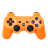 Snowflake Button Wireless Bluetooth Gamepad Game Controller for PS3 (Orange)