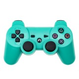 Snowflake Button Wireless Bluetooth Gamepad Game Controller for PS3 (Green)
