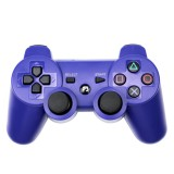 Snowflake Button Wireless Bluetooth Gamepad Game Controller for PS3 (Blue)