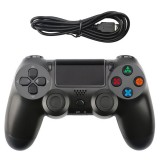 Snowflake Button Wired Gamepad Game Handle Controller for PS4 (Black)
