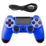 Snowflake Button Wired Gamepad Game Handle Controller for PS4 (Blue)