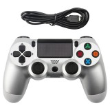 Snowflake Button Wired Gamepad Game Handle Controller for PS4 (Silver)