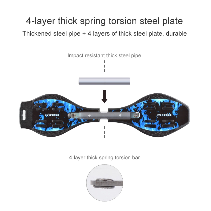 Fashion Two-wheeled Skateboard Luminous Flash Wheel Vitality Board (Red)