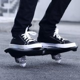 Fashion Two-wheeled Skateboard Luminous Flash Wheel Vitality Board (White)
