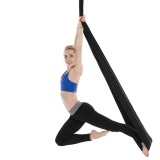 Household Handstand Elastic Stretching Rope Aerial Yoga Hammock Set (Black)