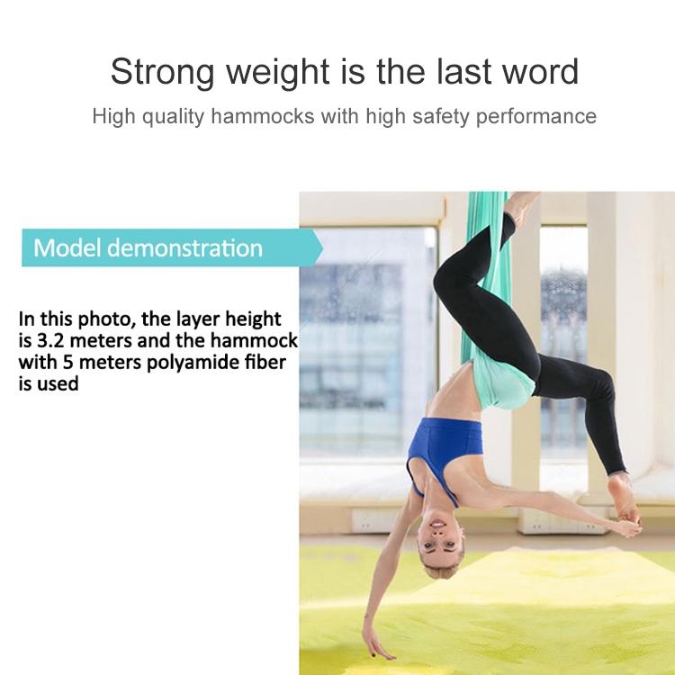 Household Handstand Elastic Stretching Rope Aerial Yoga Hammock Set (Dark Green)