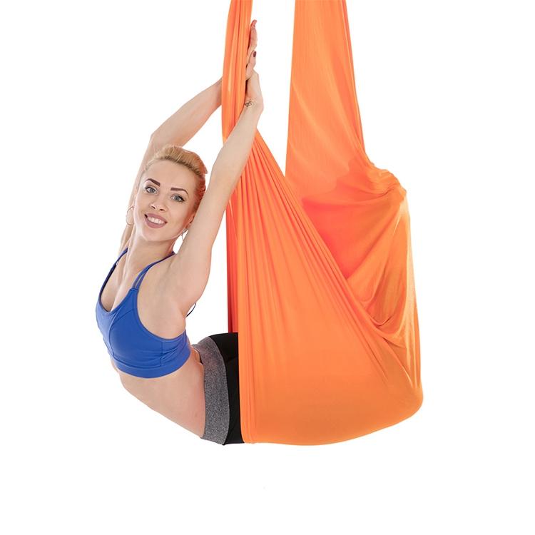 Household Handstand Elastic Stretching Rope Aerial Yoga Hammock Set (Orange)