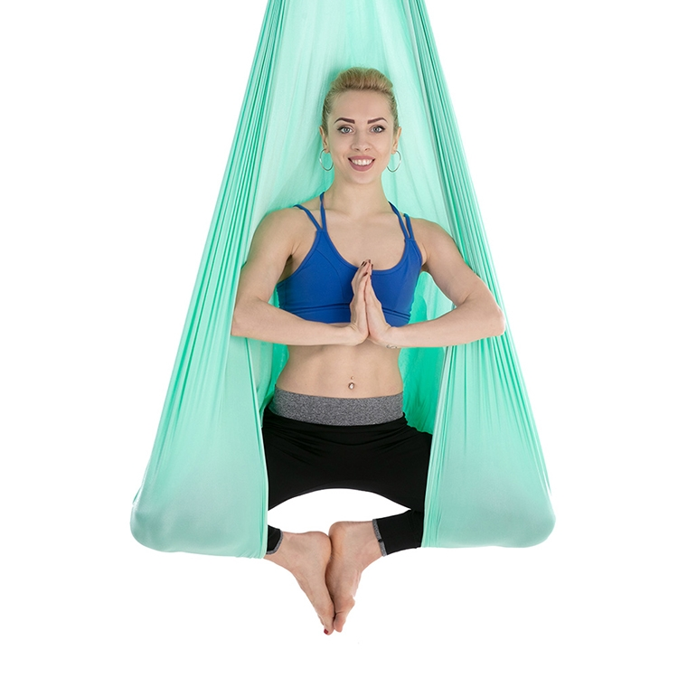 Household Handstand Elastic Stretching Rope Aerial Yoga Hammock Set (Green Light)
